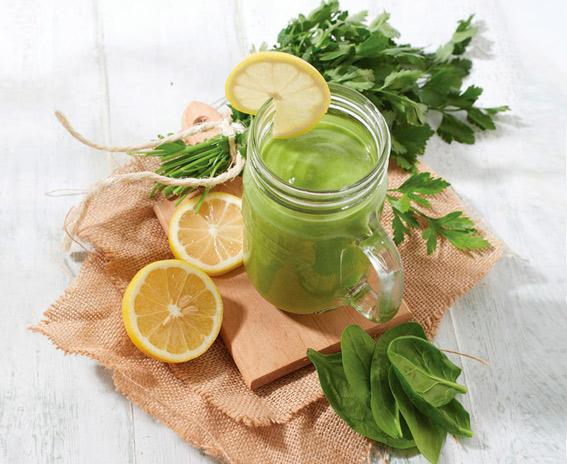 smoothie verde para cuidar la linea despues de navidad