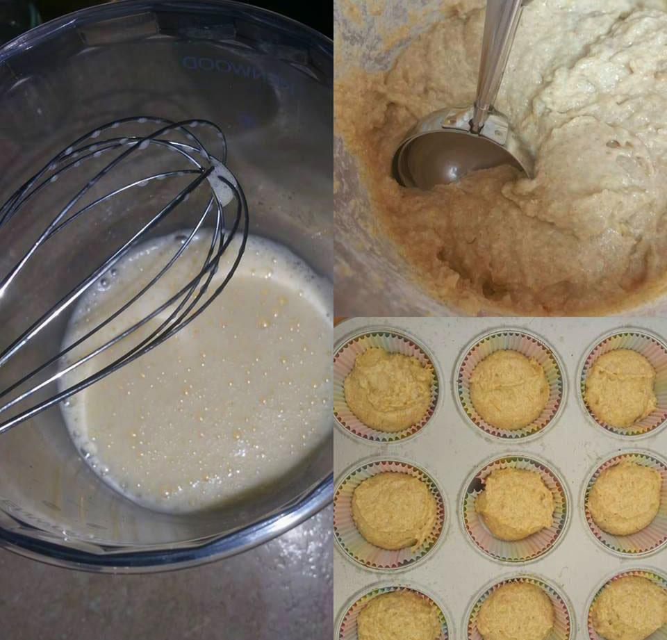 Preparar magdalenas de platano para bebes