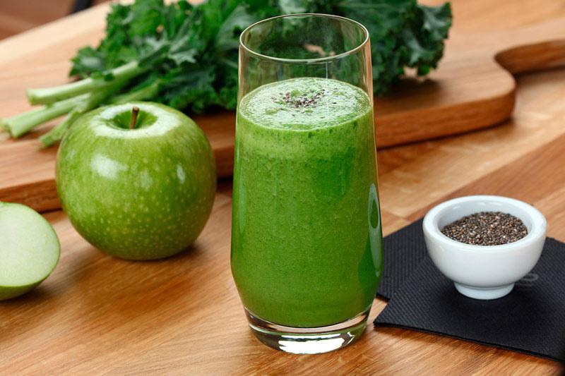 smoothie verde energía para entrenar