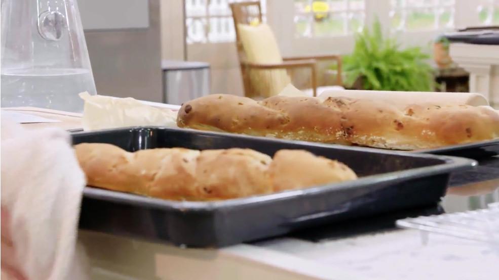 Receta de pan con nueces y pasas masa madre