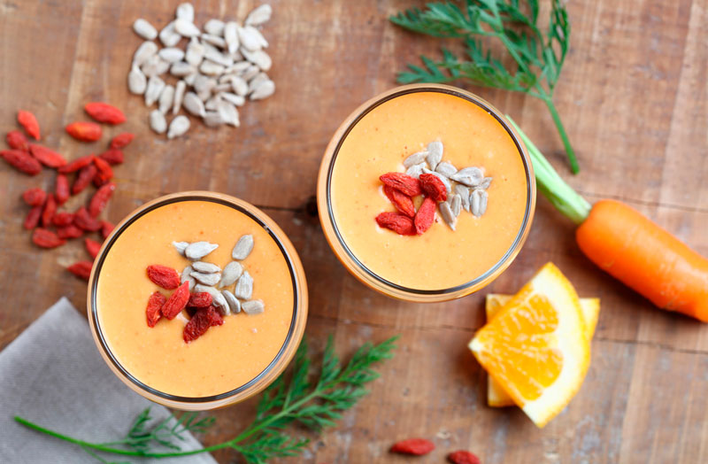smoothie vegano frutas