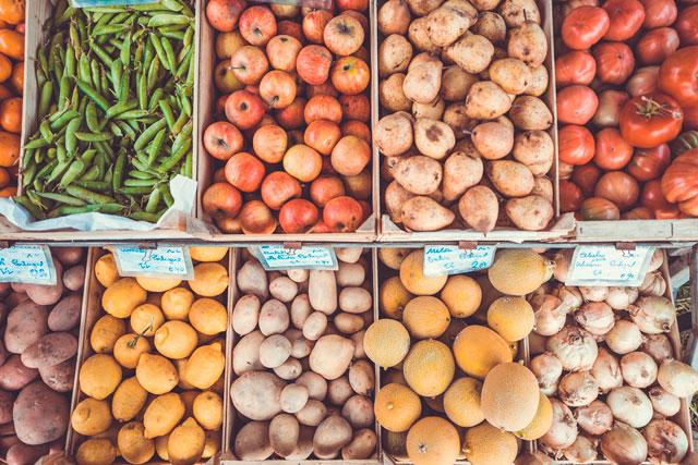Alimentos frutas y verduras menú semanal