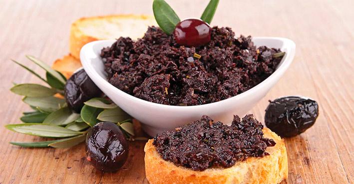 Receta aperitivo olivada negra
