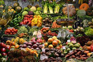 Mercado comida real fruta y verdura