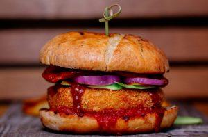 hamburguesa vegana de alubias