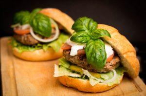 pan de hamburguesa rústico